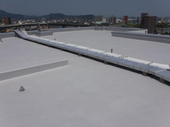 高知市比島町 pマンション様 塩ビシート防水工事【雨漏り修理】