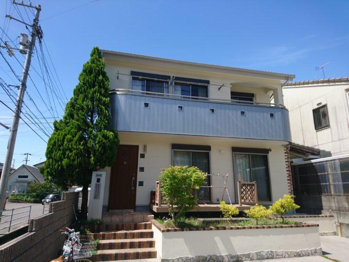高知市神田 o様邸 外壁塗装 ベランダサイディング改修工事