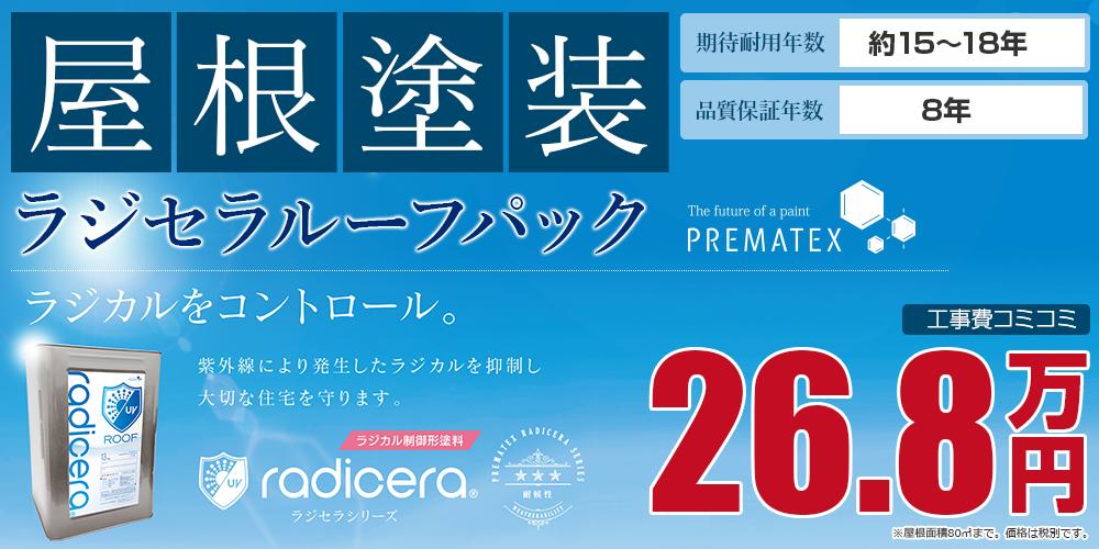 ラジセラルーフパック塗装 26.8万円