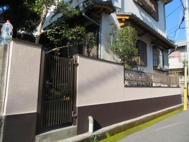 高知市神田 t様邸 塀塗装工事