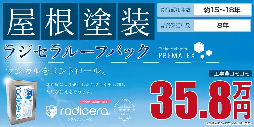 ラジセラルーフパック塗装 35.8万円