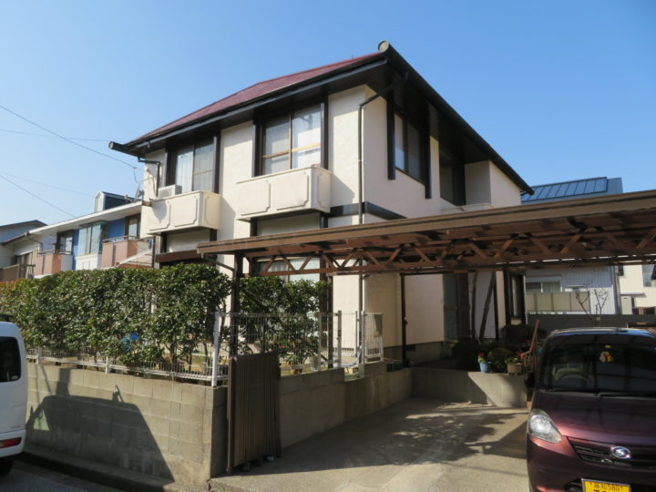 高知市春野町 k様邸 屋根外壁塗装工事