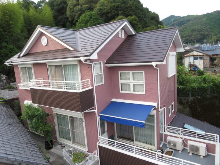 高知市東秦泉寺 f様邸 屋根カバー外壁塗装工事