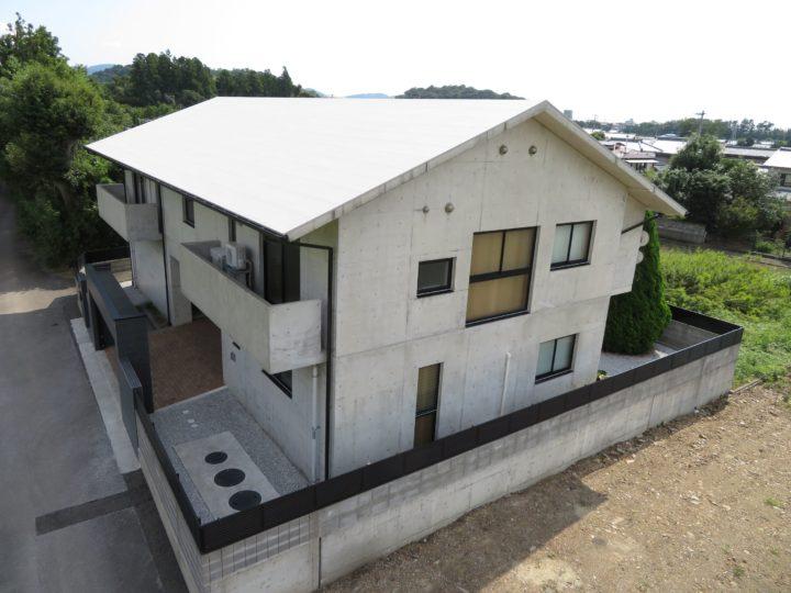 香美市 f様邸 外壁打ち放しコンクリート保護塗装