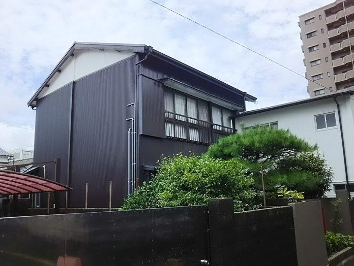 高知市元町 k様邸 外壁カバー 外壁塗装工事