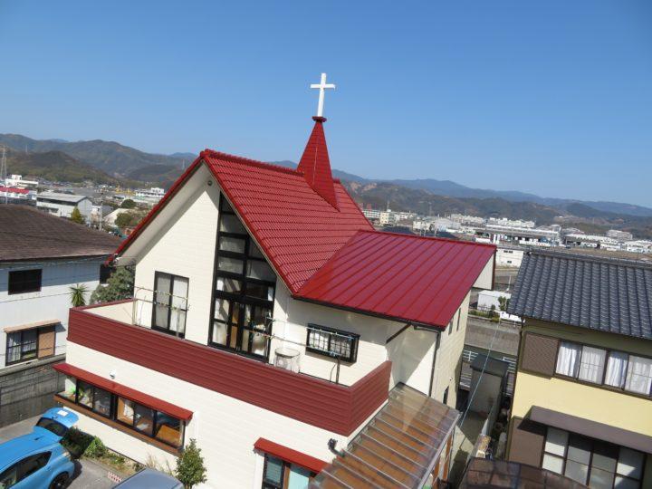 高知市大津 高知東教会様 屋根塗装 外壁塗装工事