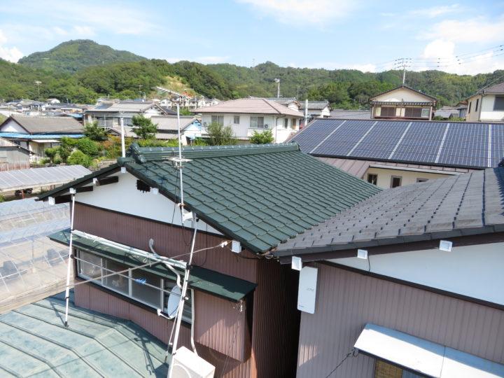 高知市福井町 f様邸 セメント瓦塗装工事