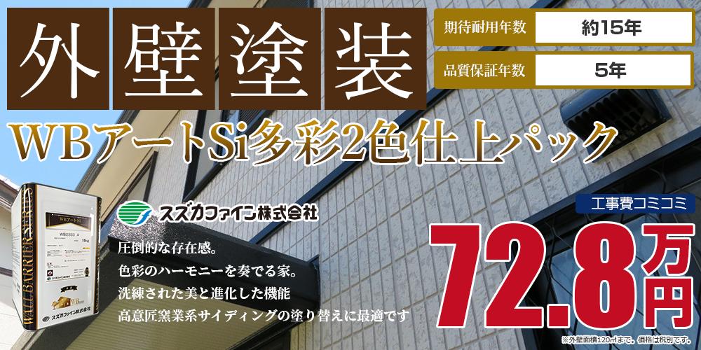 WBアートSi多彩2色仕上パック塗装 72.8万円