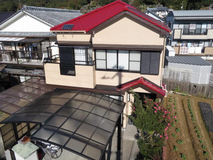 高知市西久万 n様邸 屋根塗装 外壁塗装工事