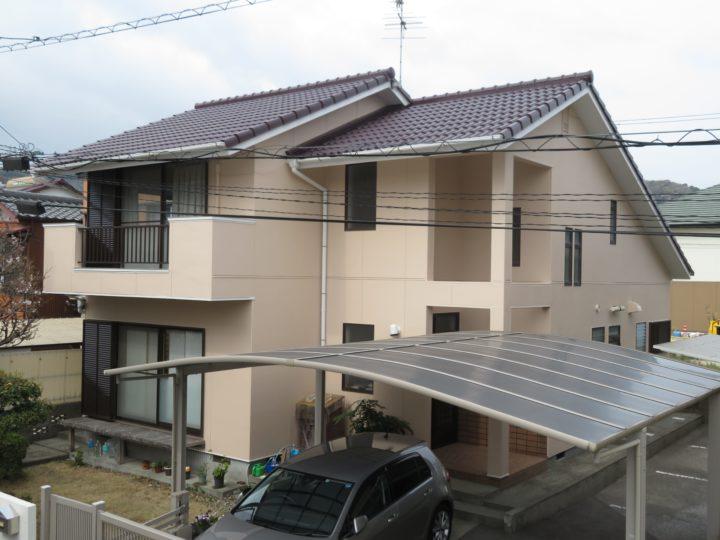 高知市竹島町 m様邸 屋根塗装 外壁塗装工事