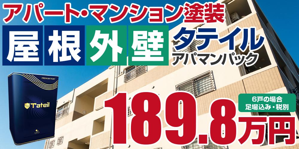 タテイルアパマンパック塗装 189.8万円