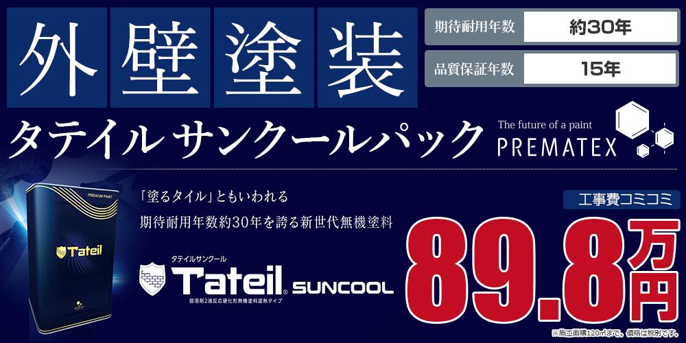 タテイルサンクールパック塗装 89.8万円