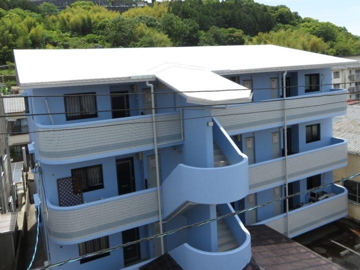高知市小石木町 gマンション様 屋根塗装 外壁塗装工事