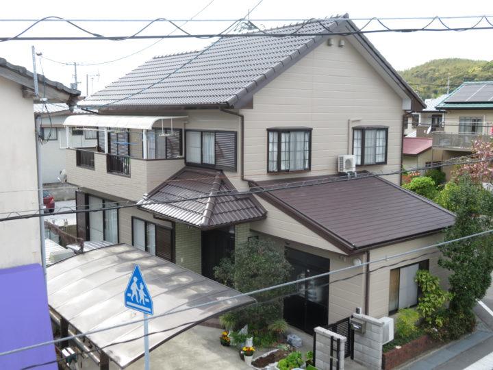 高知市介良 k様邸 屋根塗装 外壁塗装工事