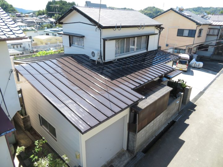 高知市横内 f様邸 屋根塗装 外壁塗装工事