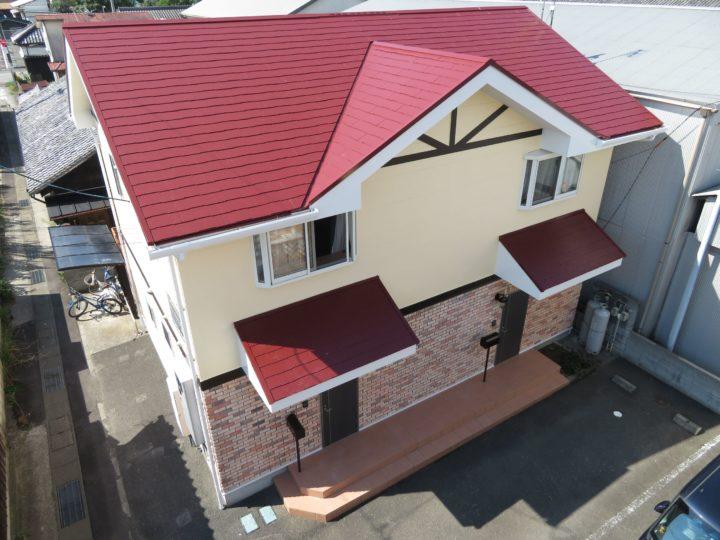 高知県 sアパートA棟B棟 屋根塗装 外壁塗装工事