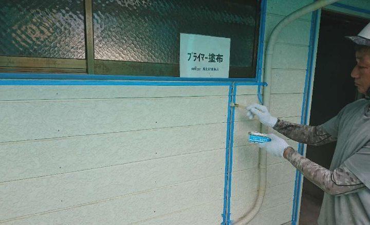 シーリング工事(プライマー塗布)