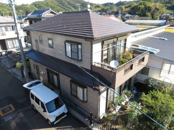 高知市一宮 k様邸 外壁塗装 屋根塗装 ベランダ外壁カバー工事