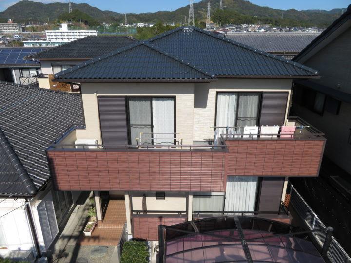 高知市塚ノ原 n様邸 屋根塗装 外壁塗装工事