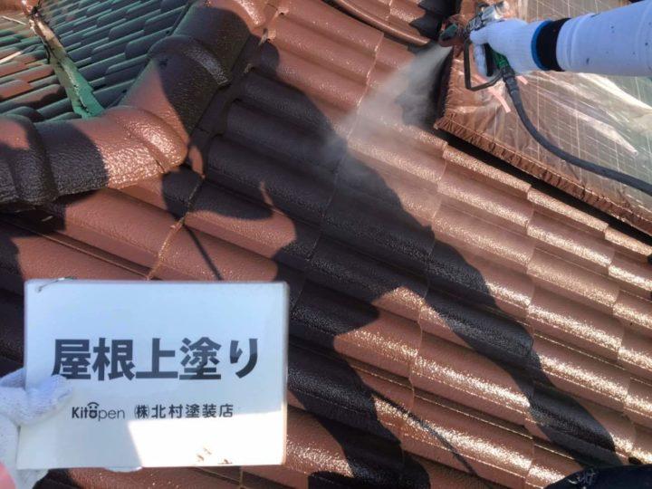屋根塗装4回目(仕上げ)