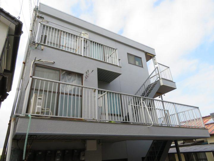 高知市瀬戸 sマンション 外壁塗装 鉄骨階段シート張り工事