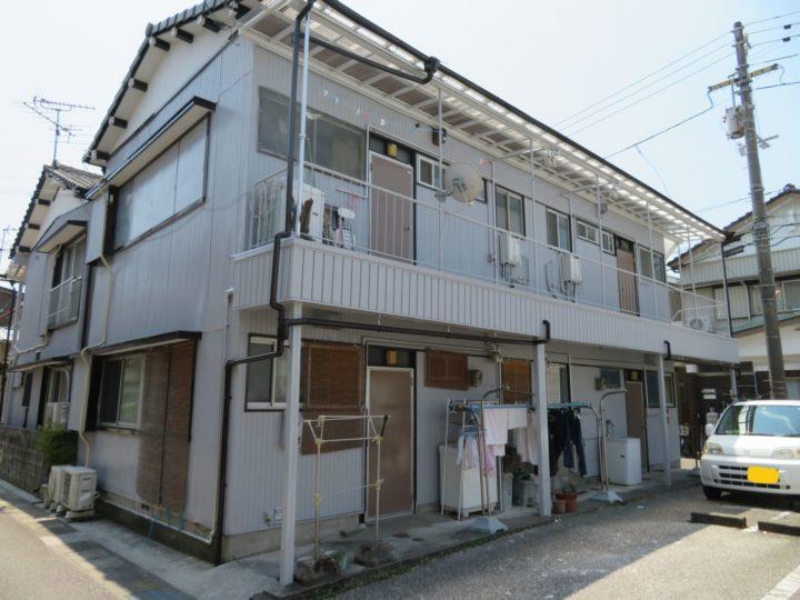 高知市竹島町 tアパート 外壁塗装工事