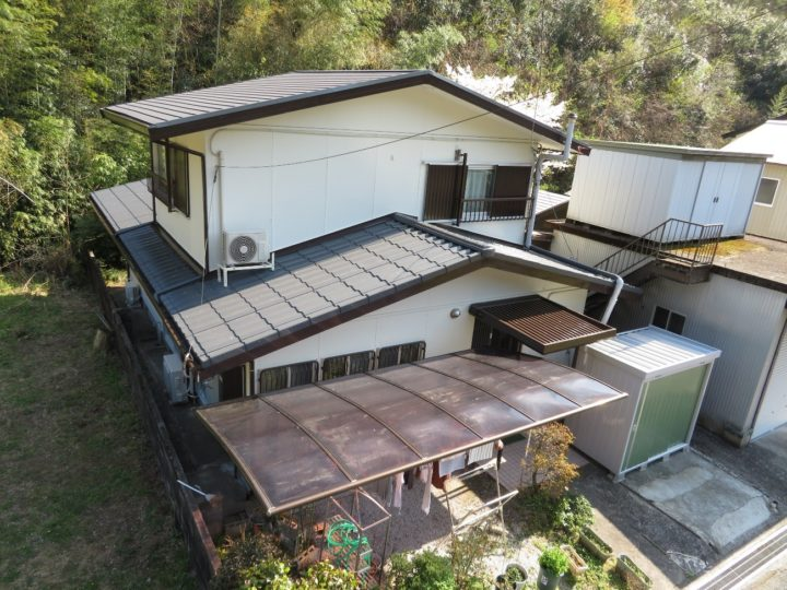 南国市 k様邸 屋根塗装 外壁塗装工事