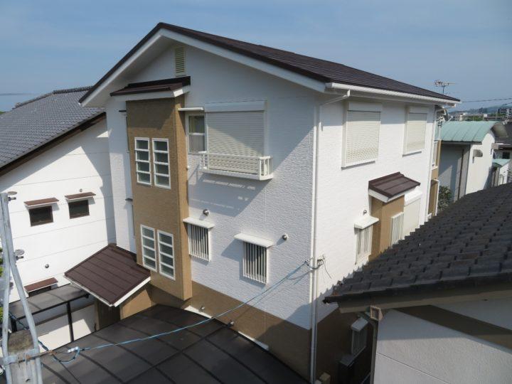高知市東久万 h様邸 外壁塗装 カバールーフ工事
