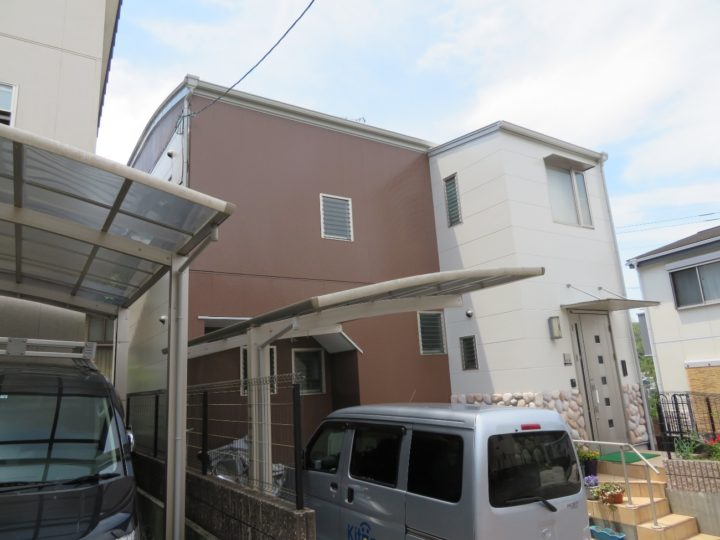 高知市針木 k様邸 屋根塗装 外壁塗装工事