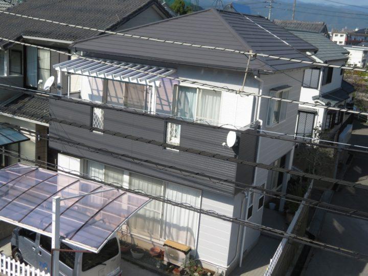 高知市六泉寺 h様邸 外壁塗装 カバールーフ工事