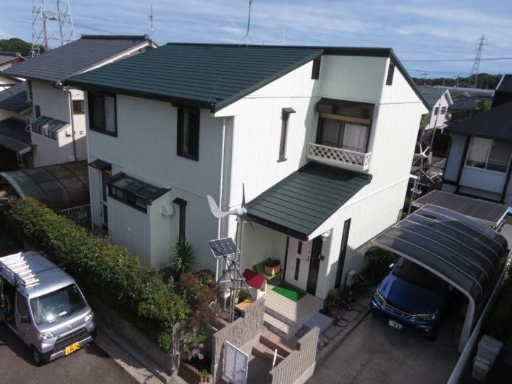 高知市横浜 n様邸 屋根葺き替え 外壁塗装工事