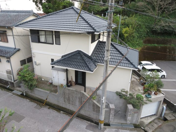 高知市東秦泉寺 h様邸 屋根塗装 外壁塗装工事