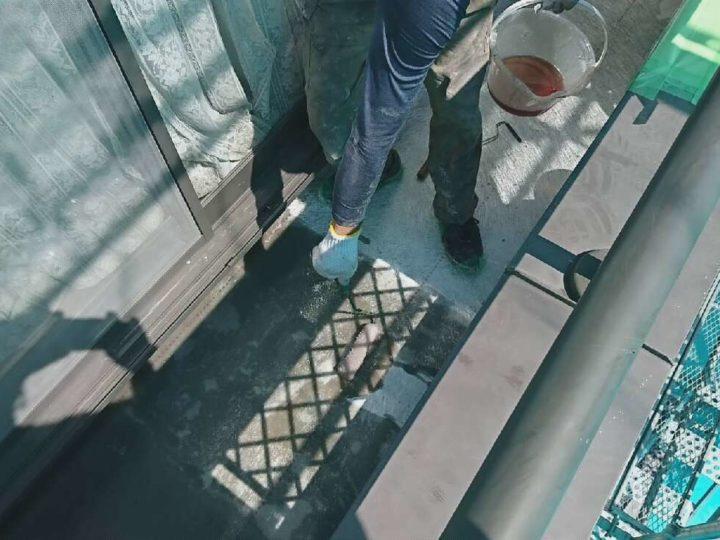 ④ベランダFRP防水改修