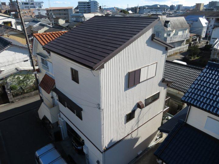 高知市愛宕山 y様邸 屋根葺替え 外壁塗装工事