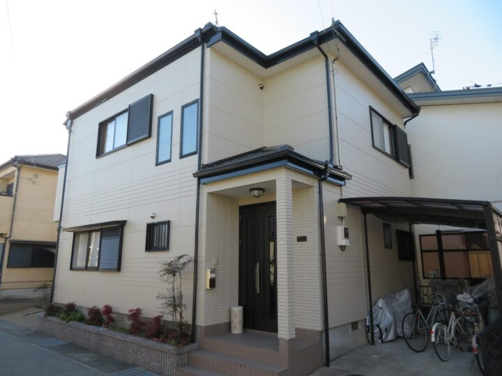 南国市 t様邸 日本ペイントのパーフェクトトップ外壁塗装はキタペンスタンダード価格49.8万円