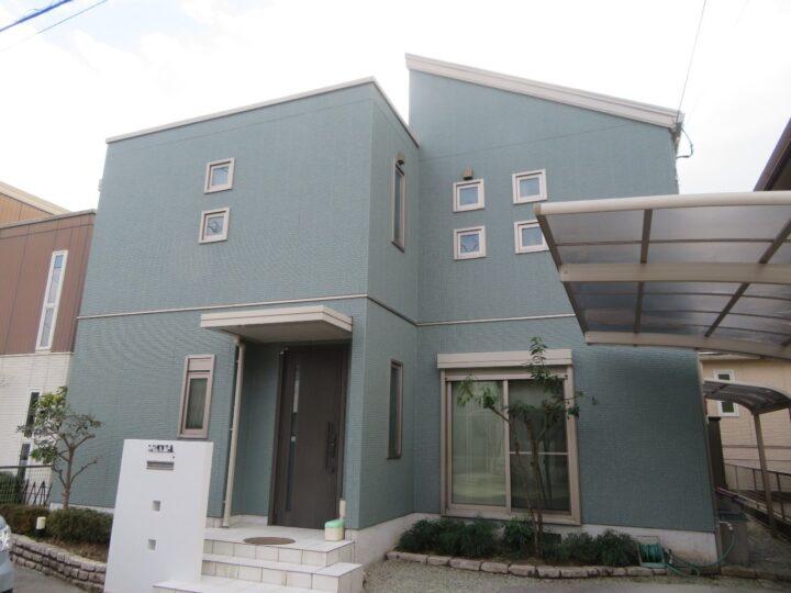 高知市長浜 o様邸 外壁塗装工事 高耐久塗料 グラステージで塗装しました