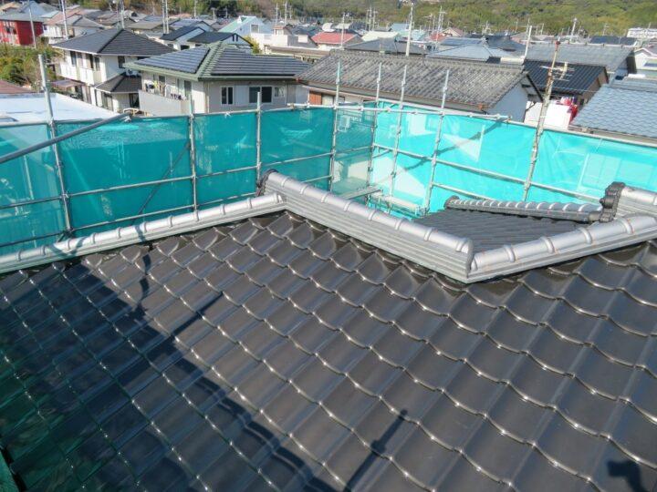 隅棟瓦積替え屋根塗装工事(施工完了)