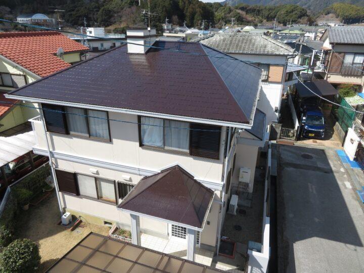 高知市瀬戸 a様邸 屋根塗装 外壁塗装工事 超高耐候塗料で屋根外壁を施工させていただきました。