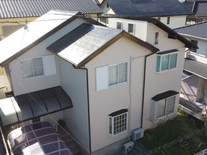 いの町 s様邸 屋根塗装 外壁塗装工事 なるだけ既存の色に近い色で仕上げました