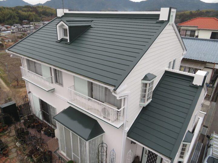高知市春野町 m様邸 外壁塗装 屋根葺き替え工事 アイジー工業スーパーガルテクト