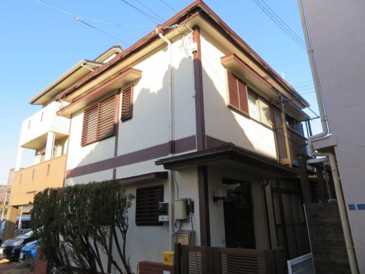 高知市菜園場町 a様邸 屋根塗装 外壁塗装工事 メリハリのついた仕上がりになりました。