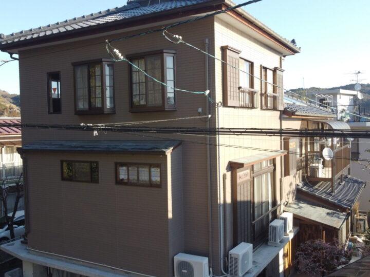 高知市朝倉 t様邸 外壁塗装工事 長期耐久と防カビ性能塗料で外壁をリフレッシュしました。