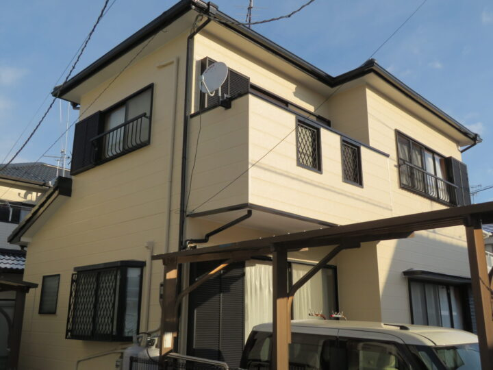 高知市仁井田 s様邸 屋根塗装 外壁塗装 艶有塗料で紫外線からお家を守ります。