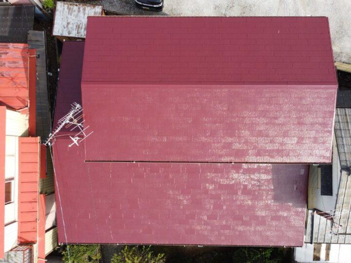 高知市薊野 t様邸 ハルスハイリッチシリコン樹脂塗料 関西ペイント アレスダイナミックルーフ 化粧スレート屋根塗装