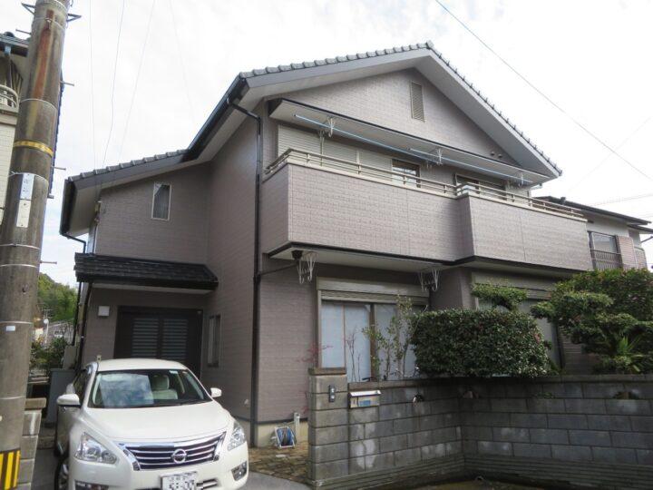 高知市槇山町 y様邸 外壁塗装工事 優れた耐候性のラジカル塗料「関西ペイント ダイナミックトップ」