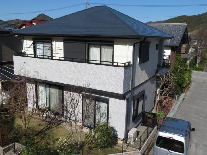 高知市みづき h様邸 屋根塗装 外壁塗装工事 オリジナリティー溢れる多彩色塗料で仕上げました