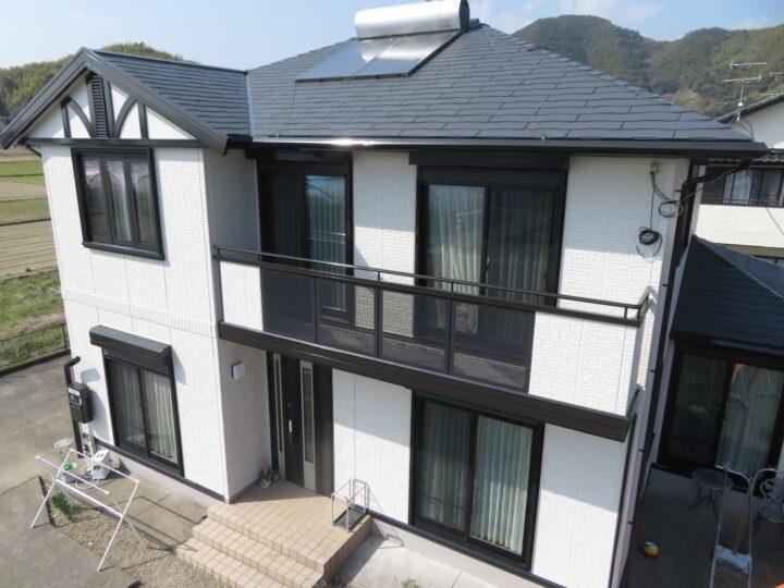 高知市春野町 y様邸 屋根塗装 外壁塗装工事 屋根・外壁共に北村塗装店標準仕様の4回塗り仕上げました