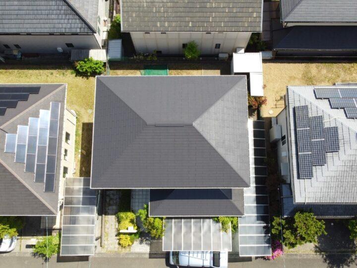 高知市春野町 o様邸 屋根専用の水性塗料 アレスダイナミックルーフアクアで屋根塗装 化学物質過敏症対策