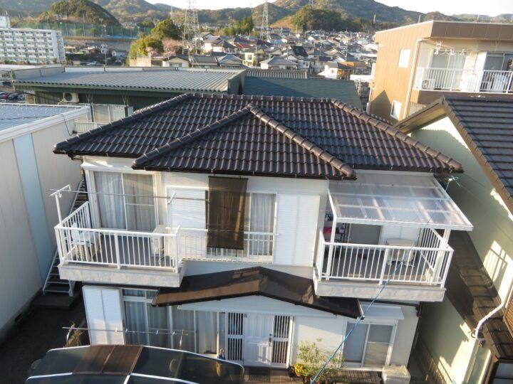 高知市塚ノ原 s様邸 屋根塗装 外壁塗装工事 バルコニー床・波板ポリカも含めてリフレッシュしました。