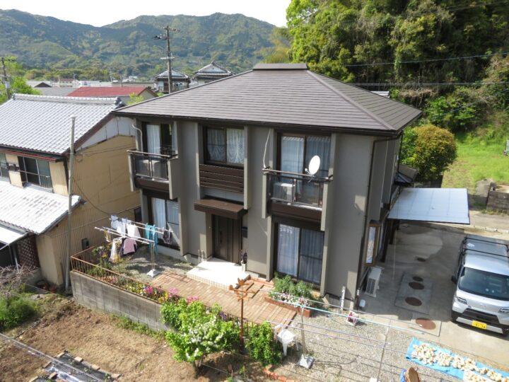 土佐市 n様邸 屋根塗装・外壁塗装工事・ドアリモ 高耐候塗料で仕上げ、ドアリモによってお家が生まれ変わりました。